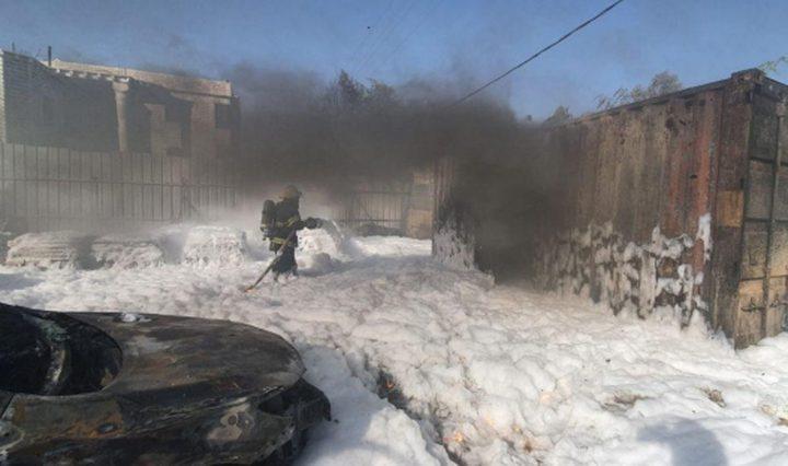 إصابة شخصين إثر إنفجار صهريج وقود بقرية تل السبع