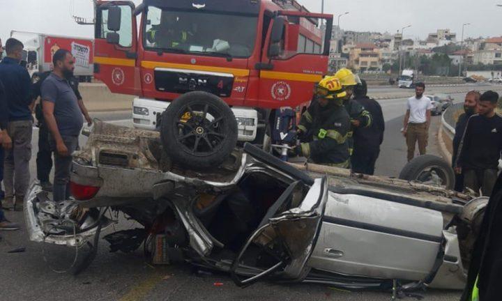 إصابة خطيرة بحادث طرق قرب الطيبة