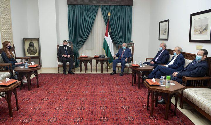الرئيس يستقبل القنصل العام البريطاني في القدس فيليب هول