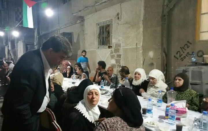إقامة مأدبة إفطار لأهالي مخيم اليرموك