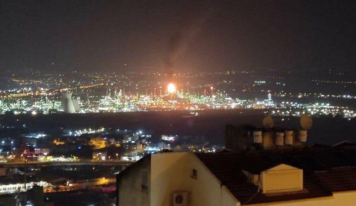 اندلاع حريق في مصافي النفط بحيفا