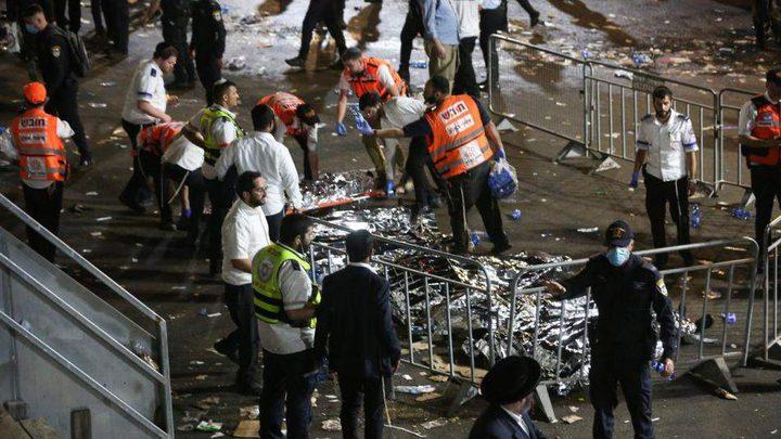 اسرائيل: مقتل 44 وإصابة العشرات خلال احتفال يهودي في جبل الجرمق