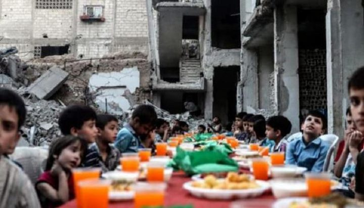 إقامة مأدبة إفطار لأهالي مخيم السيدة زينب