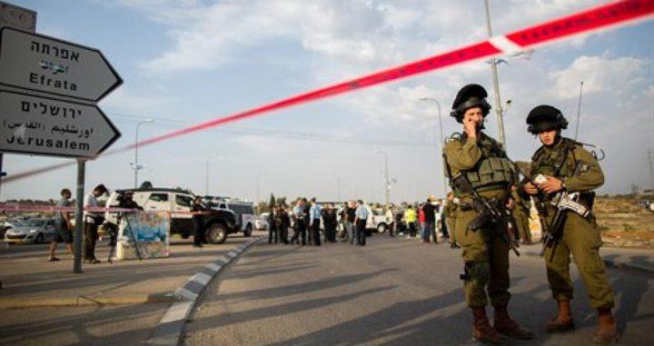 """قوات الاحتلال تطلق النار على سيدة قرب مفرق """"عتصيون"""""""