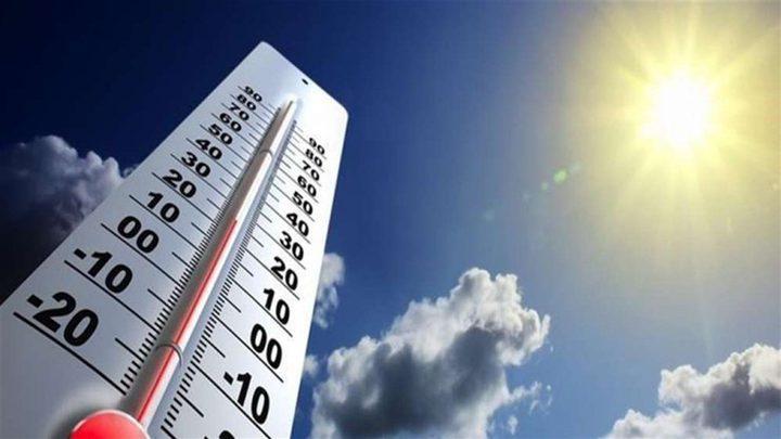 حالة الطقس: أجواء حارة أعلى من معدلها السنوي بحدود 4 درجات