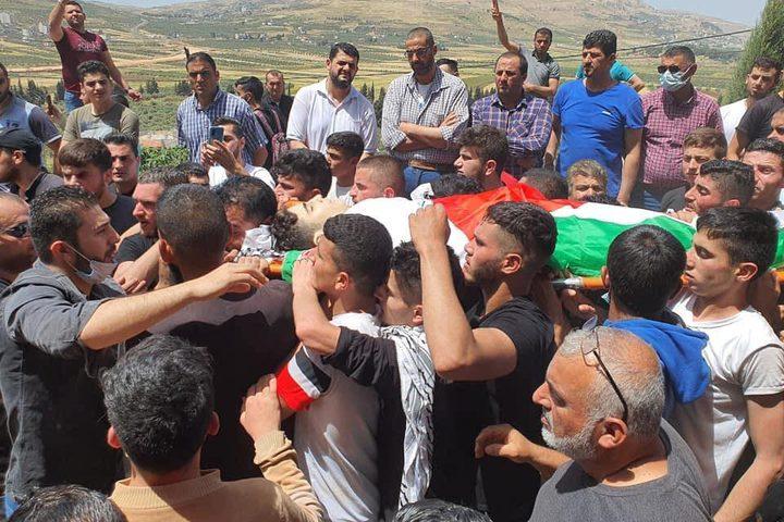 تشييع جثمان الشـهيد سعيد عودة في قرية أودلا