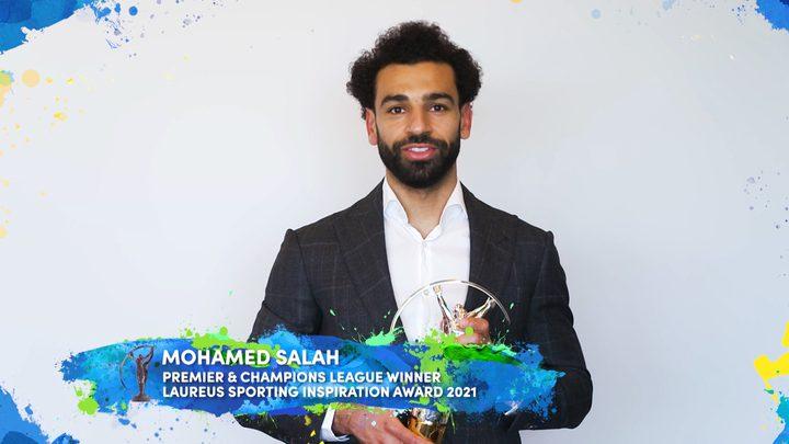 """محمد صلاح يفوز بجائزة """"لوريوس"""" للإلهام الرياضي"""