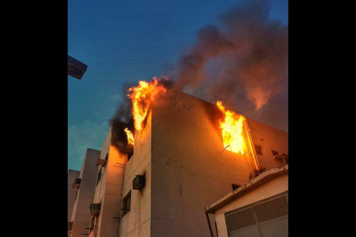 وفاة ثمانية فلسطينيين بحريق في مدينة جدة