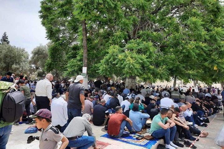الآلاف يؤدون صلاة الجمعة الأخيرة من شهر رمضان في المسجد الأقصى