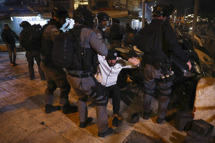 53 إصابة خلال مواجهات مع الاحتلال في احياء القدس