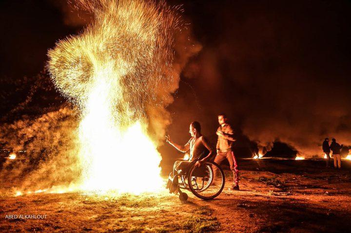 استمرار فعاليات الارباك الليلي شرق غزة لليوم الثاني على التوالي