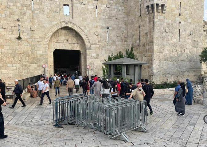 مسيرة المستوطنين تغير مسارها من باب العامود إلى باب الخليل