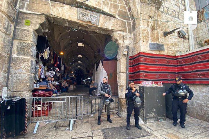 إغلاق قوات الاحتلال لأبواب المسجد الأقصى