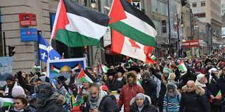 تظاهرات في عدد من دول العالم ضد عدوان الاحتلال ضد شعبنا