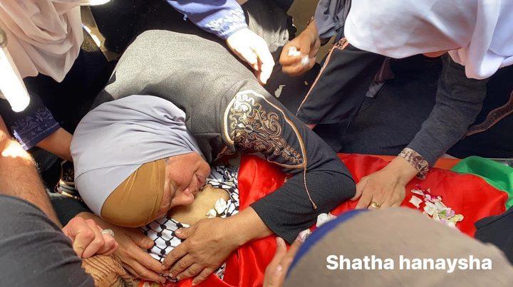 تشييع جثمان الشهيد الطفل الشهيد أبو عرة في عقابا