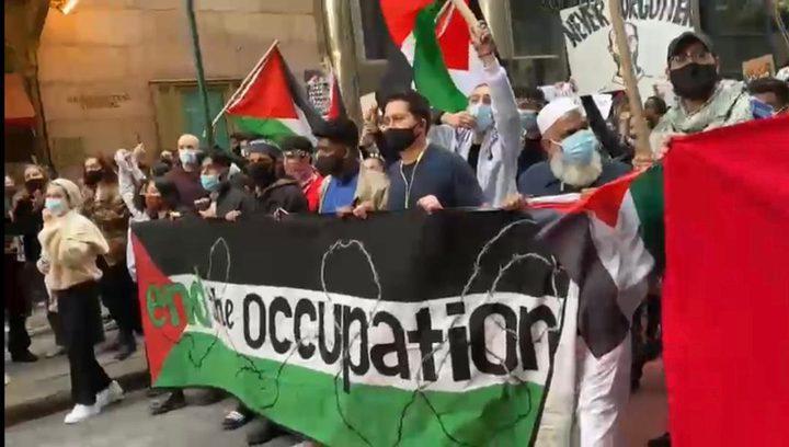 الجاليات الفلسطينية والعربية تندد بعدوان الاحتلال على شعبنا