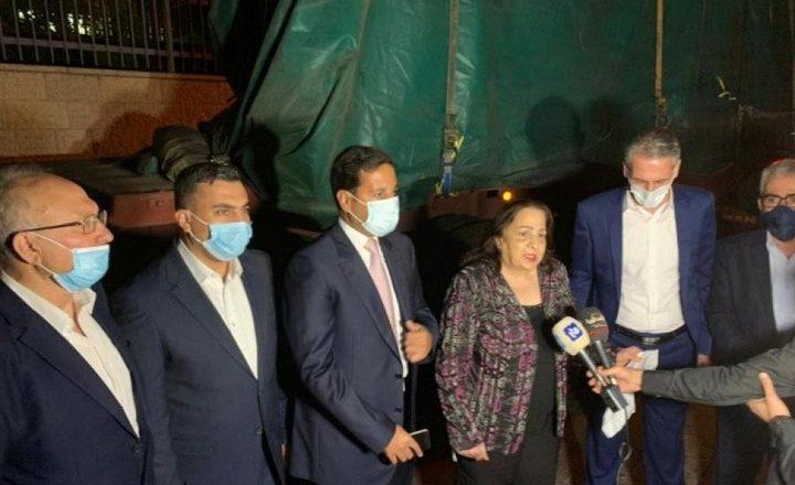 استلام شحنة مساعدات طبية أردنية بإيعاز من الملك عبد الله الثاني