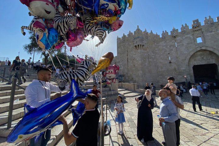 أجواء الاحتفال بعيد الفطر في باب العامود