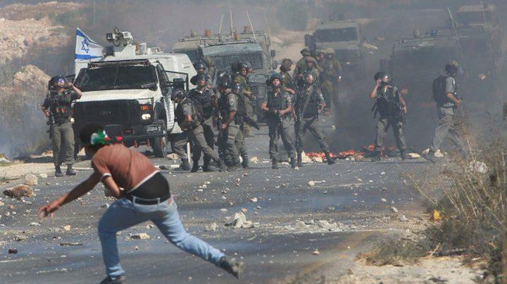 اندلاع مواجهات عقب قمع الاحتلال مسيرة شرق قلقيلية