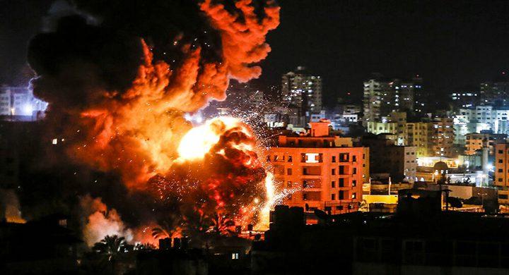 قصف صاروخي إسرائيلي على مجمع أنصار غرب مدينة غزة