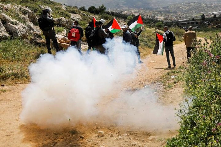 إصابات خلال مواجهات مع الاحتلال في بيت دجن شرق نابلس