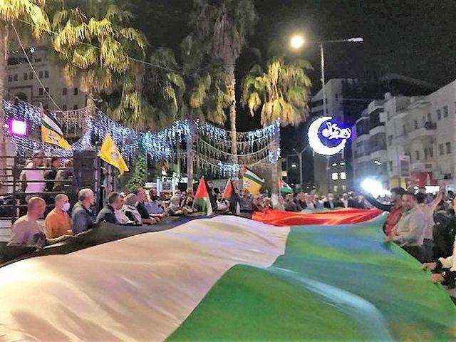مسيرة إنطلقت في مدينة نابلس نصرة لغزة وأهلها