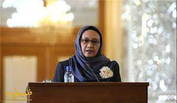 وزيرة خارجية إندونيسيا تؤكد موقف بلادها الداعم للقضية الفلسطينية
