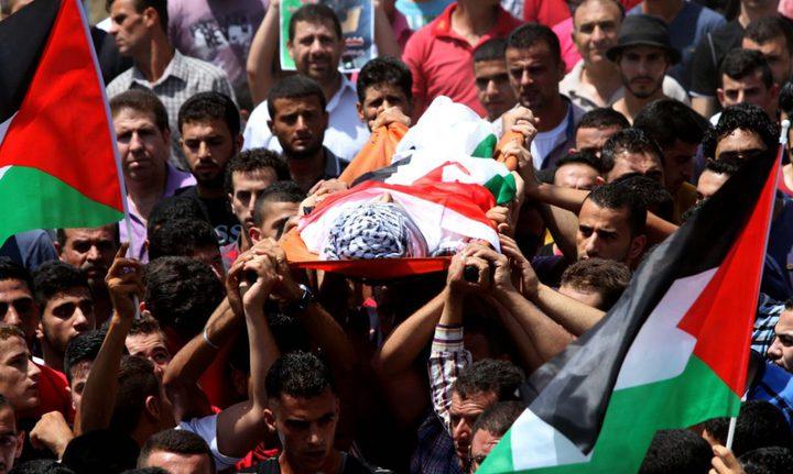 تشييع جثمان الشهيد محمد أبو شقير إلى مثواه الأخير بأريحا