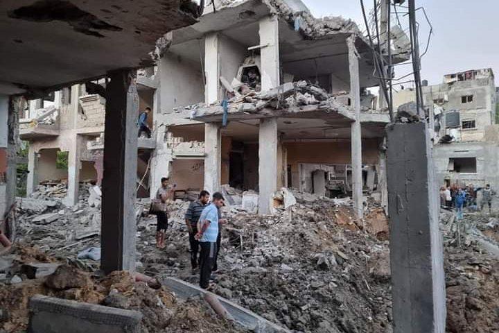 """الدمار الذي خلفه القصف """"الاسرائيلي"""" للمنازلفي بيت حانون"""