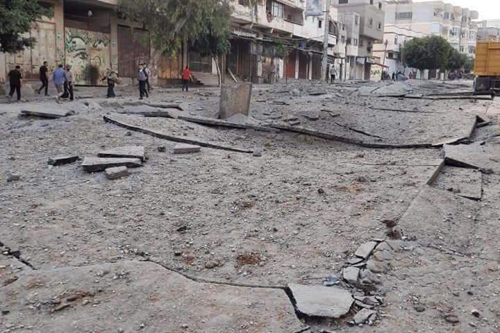 آثار الدمار الذي خلفه عدوان الاحتلال المتواصل على قطاع غزة