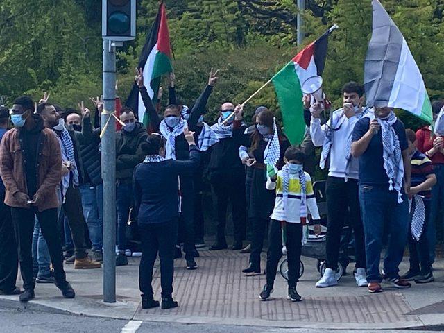 جاليتنا في ايرلندا تنظم وقفة احتجاجية على جرائم الاحتلال في دبلن