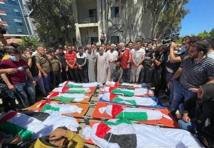 غزة تشيع جثامين شهداء مجزرةالشاطئ غرب غزة