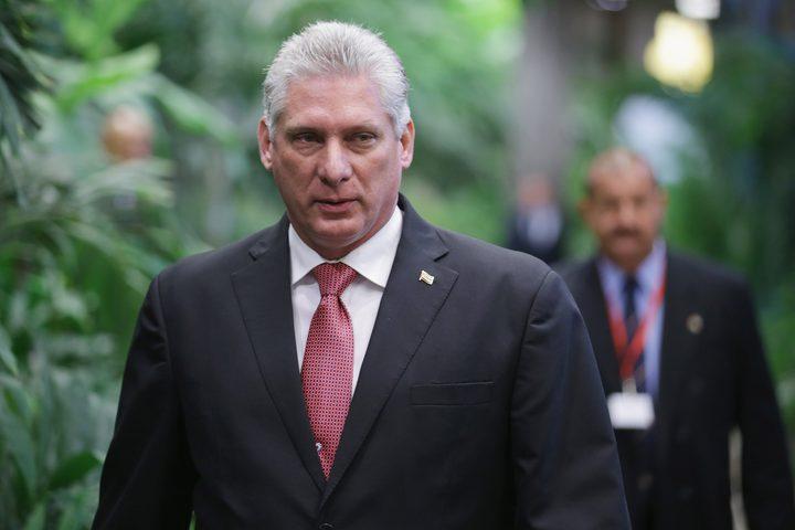 الرئيس الكوبي يدين اعتداءات الاحتلال على غزة ويطالب بوقفها فورا