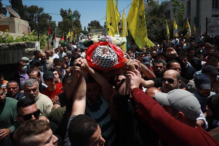 """تشييع جثمان الشهيد نزار رياض المعروف بـ """"أبوزينة"""""""