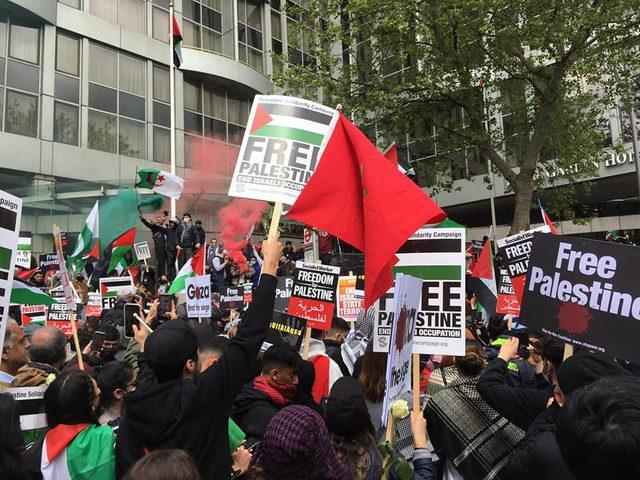 المدن الأمريكية تتظاهر ضد عدوان الاحتلال ضد شعبنا الفلسطيني