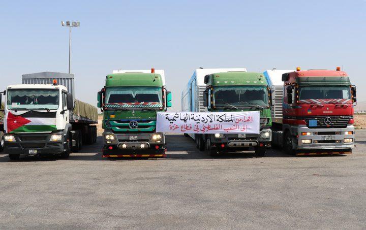 العاهل الأردني يوجه بإرسال قافلة مساعدات طبية أردنية إلى غزة