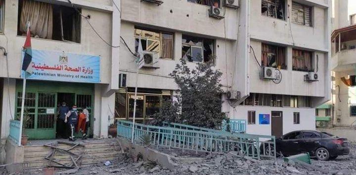 وزيرة الصحة تدين قصف الاحتلال لمبنى الوزارة بغزة