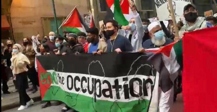 مسيرات غير مسبوقة تعُم الشوارع الأميركية تنديدا بالعدوان الإسرائي