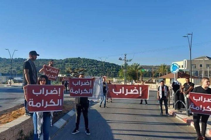 إضراب شامل في بلدة دير الأسد في الداخل المحتل