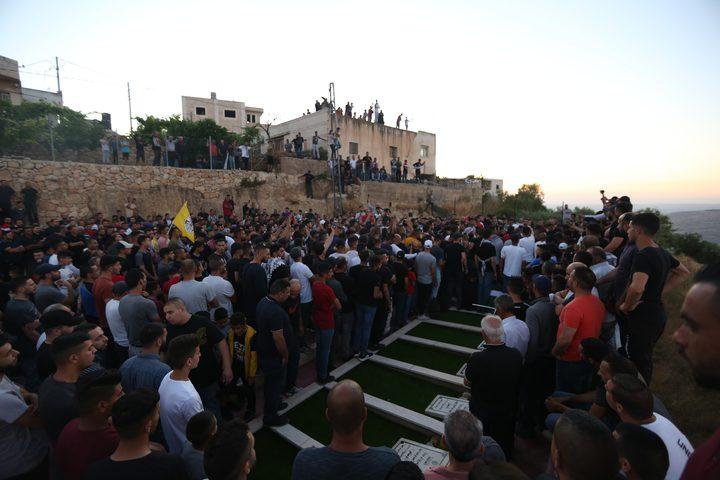 تشييع جثمان الشهيد محمد حميد في بيت عنان بالقدس