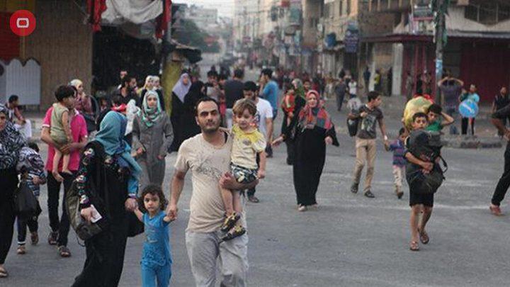 نزوح أكثر من 52 ألف مواطن جراء عدوان الاحتلال المتواصل على غزة