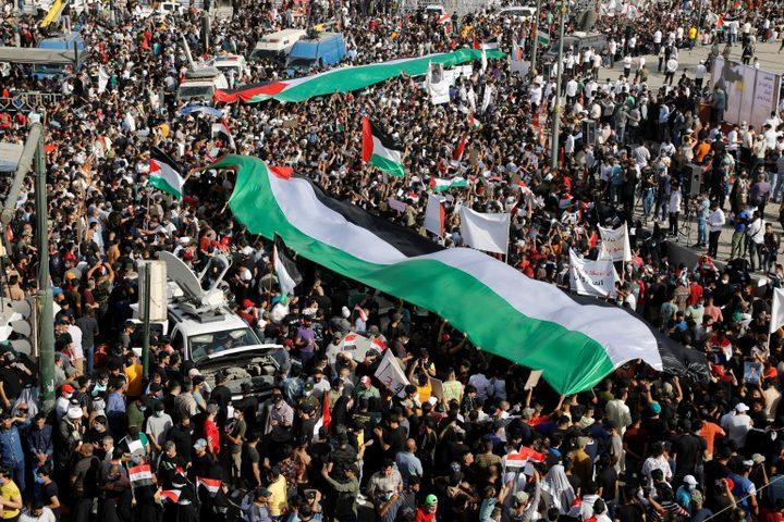 وزير الثقافة العراقي يندد بجرائم الاحتلال بحق الشعب الفلسطيني
