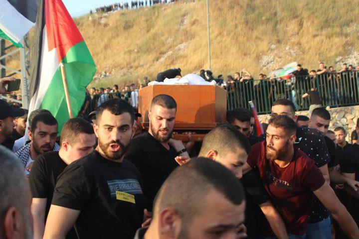 أم الفحم: تشييع جثمان الشهيد محمد كيوان
