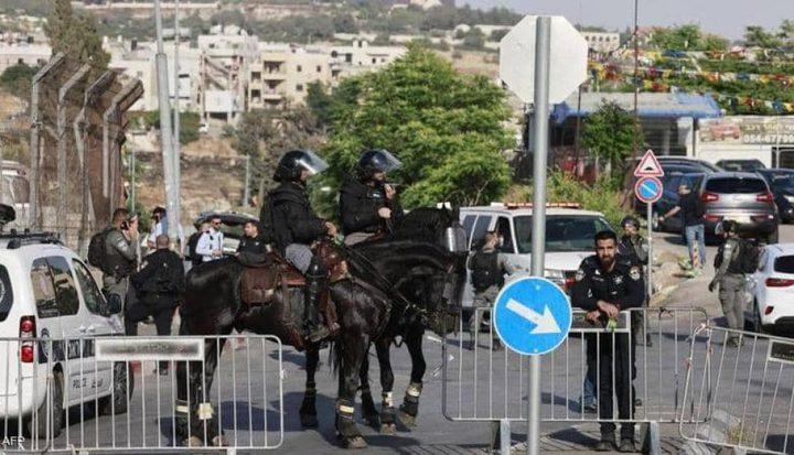 قوات الاحتلال تغلق حي الشيخ جراح
