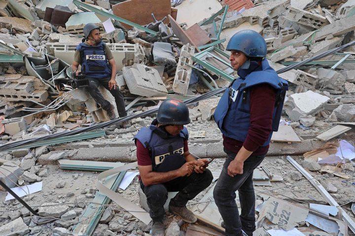 نقابة الصحفيين: الاحتلال دمر أكثر من 33 مؤسسة إعلامية في غزة