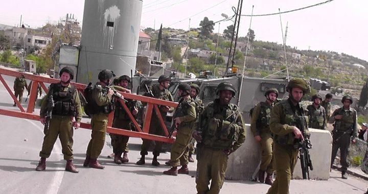الاحتلال ينصب بوابة حديدية على الطريق العام لقرى سلفيت