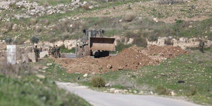 الاحتلال يغلق كافة مداخل قرية دير نظام غرب رام الله