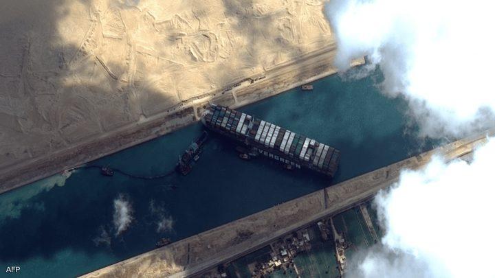 قناة السويس ترفض مبلغ التعويض عن خسائرها في جنوح السفينة العملاقة