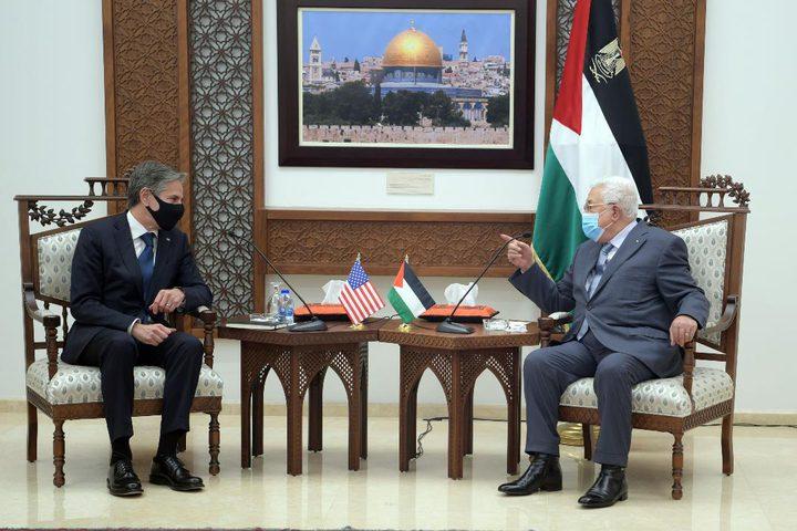 الرئيس محمود عباس يستقبل وزير الخارجية الأميركي