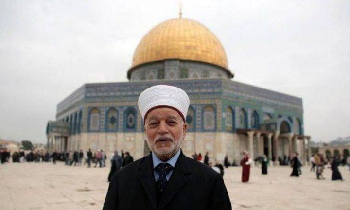 المفتي يحذر من دعوات جمعيات يهودية متطرفة لهدم الأقصى